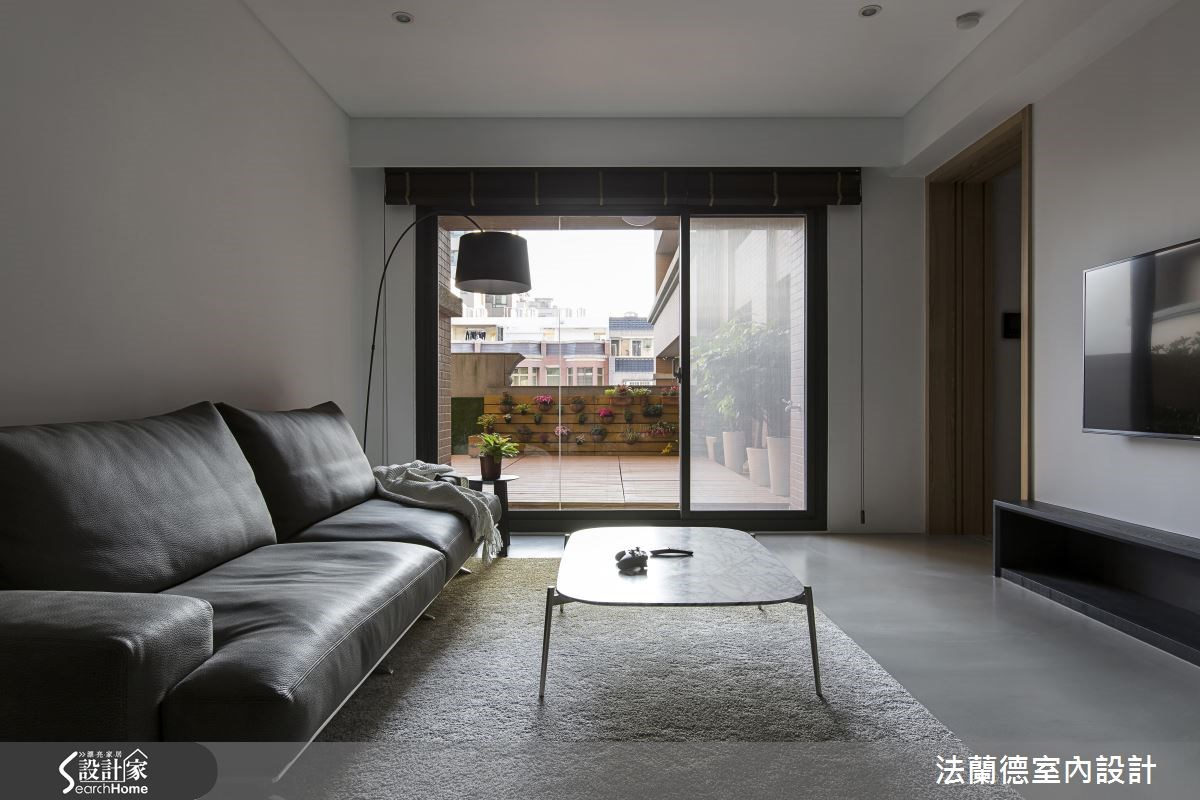 35坪新成屋(5年以下)_簡約風客廳案例圖片_法蘭德室內設計_法蘭德_28之2