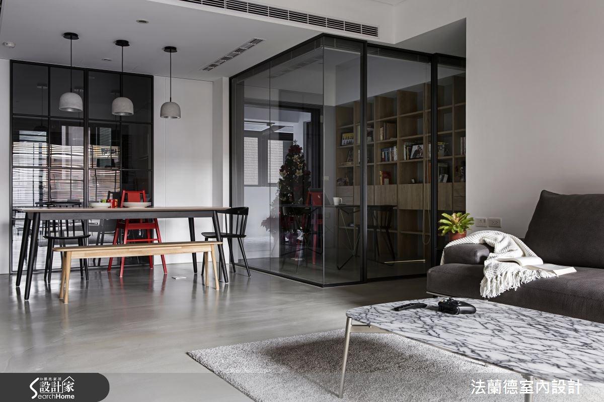 35坪新成屋(5年以下)_簡約風客廳餐廳案例圖片_法蘭德室內設計_法蘭德_28之4