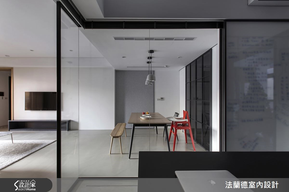 35坪新成屋(5年以下)_簡約風餐廳書房案例圖片_法蘭德室內設計_法蘭德_28之8