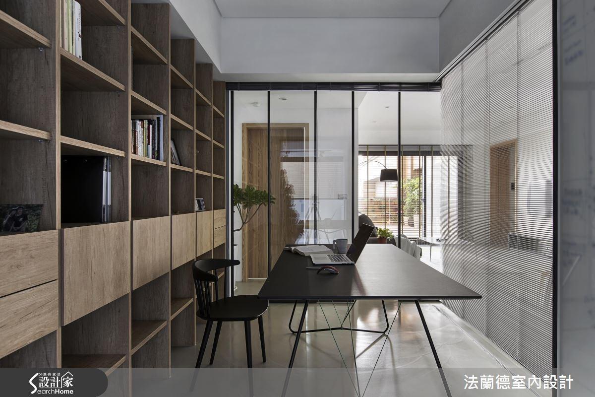 35坪新成屋(5年以下)_簡約風書房案例圖片_法蘭德室內設計_法蘭德_28之11
