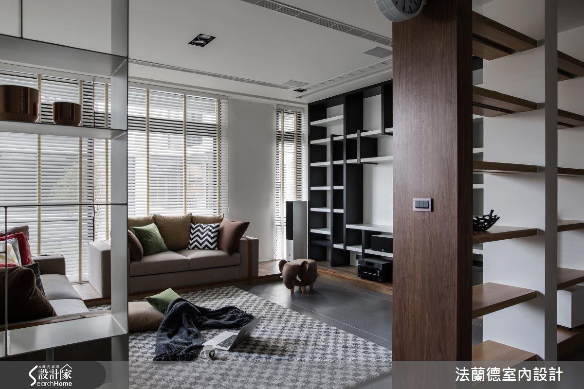 120坪新成屋(5年以下)_混搭風客廳案例圖片_法蘭德室內設計_法蘭德_29之3