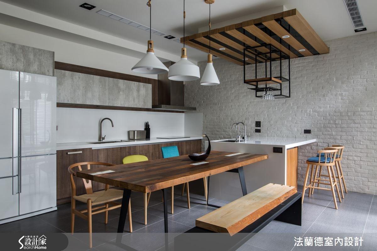120坪新成屋(5年以下)_混搭風餐廳廚房吧檯案例圖片_法蘭德室內設計_法蘭德_29之7