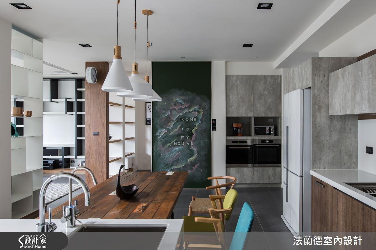 120坪新成屋(5年以下)_混搭風餐廳中島案例圖片_法蘭德室內設計_法蘭德_29之8