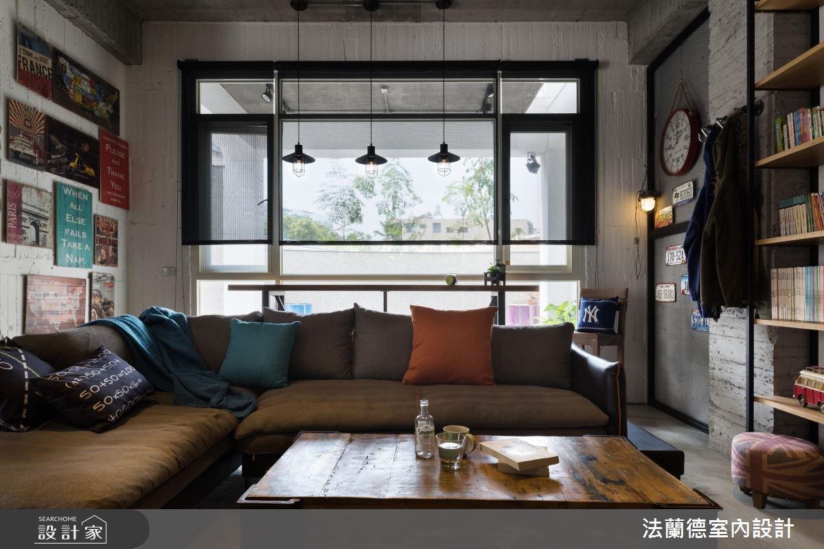 34坪新成屋(5年以下)_工業風客廳案例圖片_法蘭德室內設計_法蘭德_30之6
