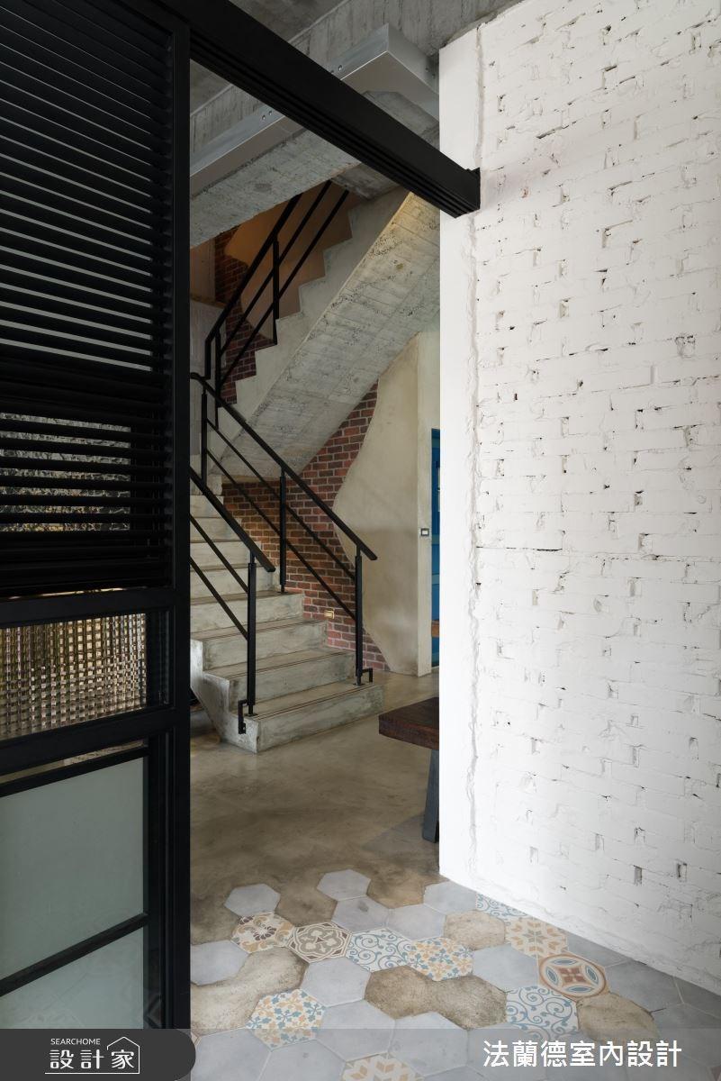 34坪新成屋(5年以下)_工業風樓梯案例圖片_法蘭德室內設計_法蘭德_30之8