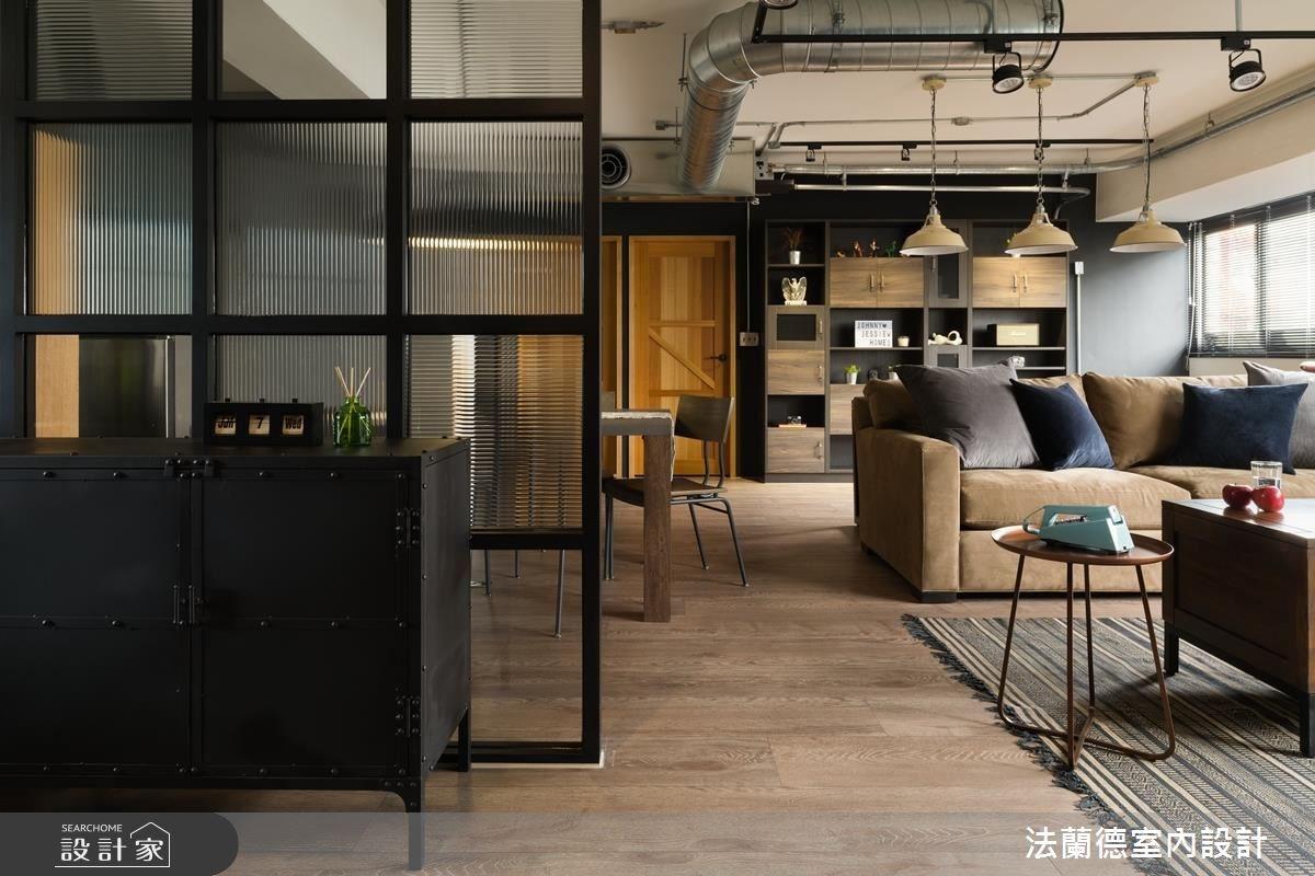 32坪老屋(16~30年)_工業風客廳案例圖片_法蘭德室內設計_法蘭德_31之1