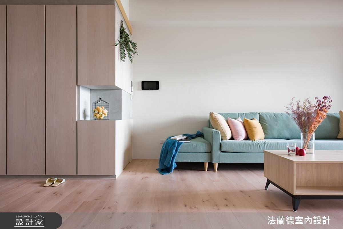 32坪新成屋(5年以下)_北歐風客廳案例圖片_法蘭德室內設計_法蘭德_34之3