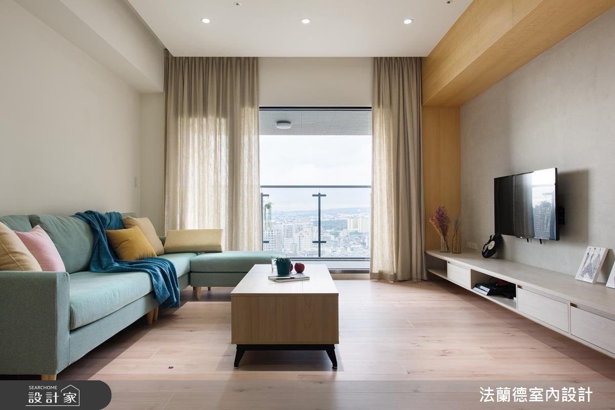 32坪新成屋(5年以下)_北歐風客廳案例圖片_法蘭德室內設計_法蘭德_34之4
