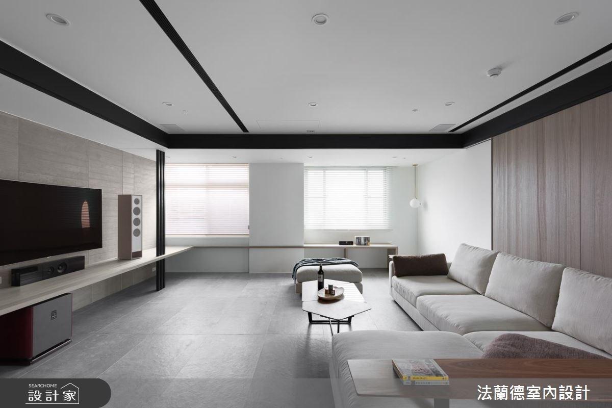 100坪老屋(16~30年)_現代風客廳案例圖片_法蘭德室內設計_法蘭德_35之3