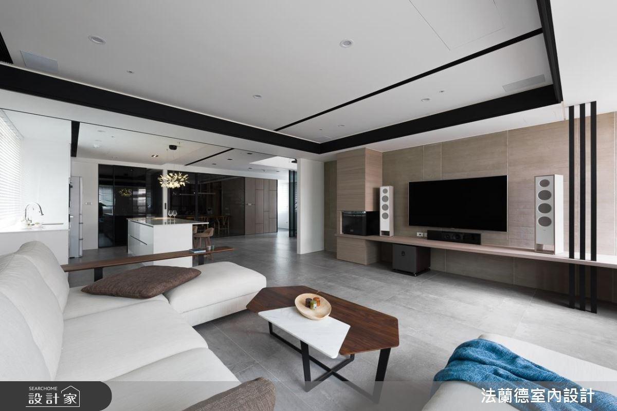 100坪老屋(16~30年)_現代風客廳吧檯案例圖片_法蘭德室內設計_法蘭德_35之4