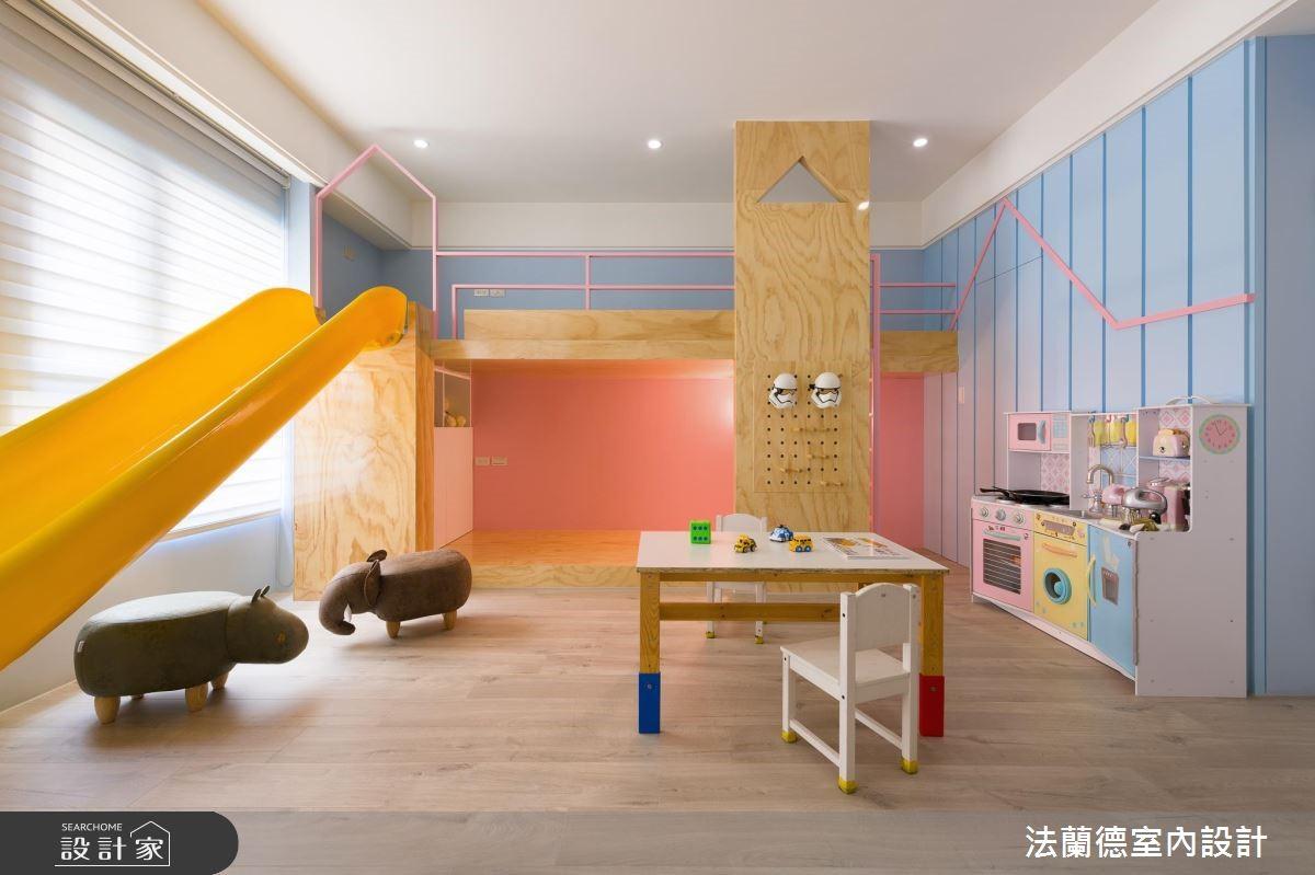 100坪新成屋(5年以下)_混搭風兒童房兒童房案例圖片_法蘭德室內設計_法蘭德_39之7