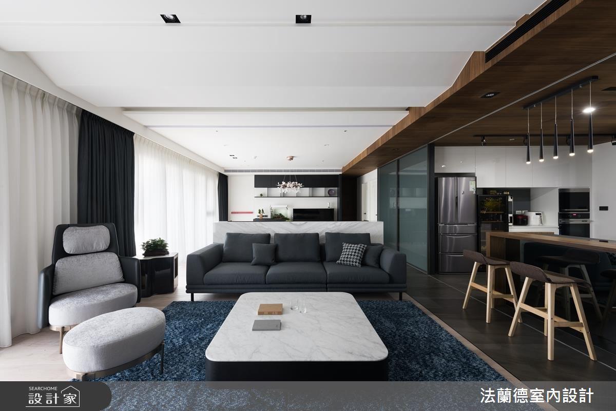 50坪新成屋(5年以下)_現代風客廳案例圖片_法蘭德室內設計_法蘭德_40之3
