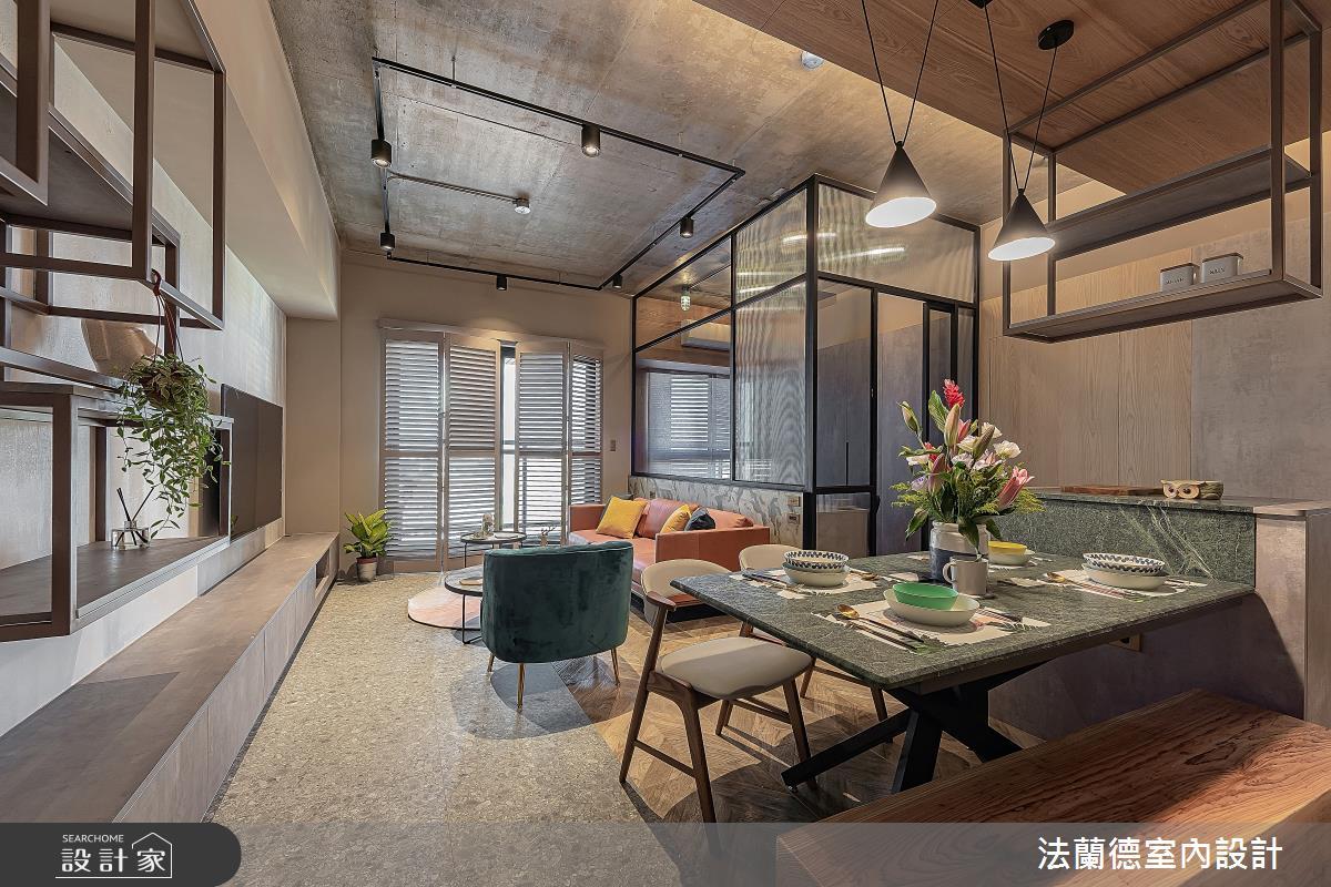 30坪預售屋_混搭風客廳餐廳案例圖片_法蘭德室內設計_法蘭德_42之3