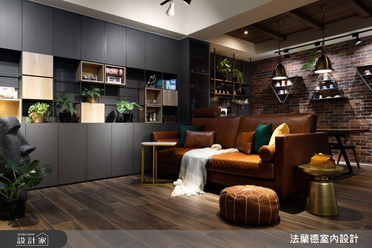 30坪新成屋(5年以下)_工業風客廳案例圖片_法蘭德室內設計_法蘭德_44之3