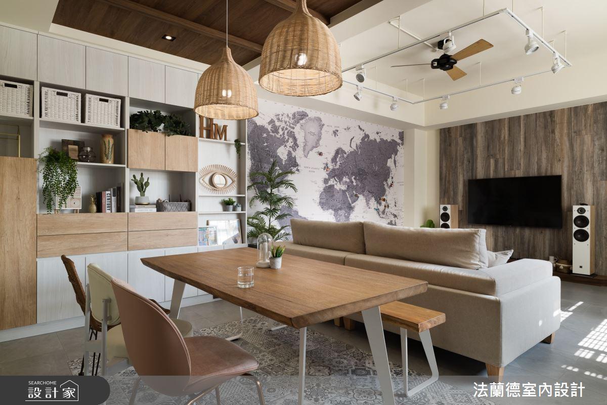 30坪新成屋(5年以下)_渡假風餐廳案例圖片_法蘭德室內設計_法蘭德_45之3