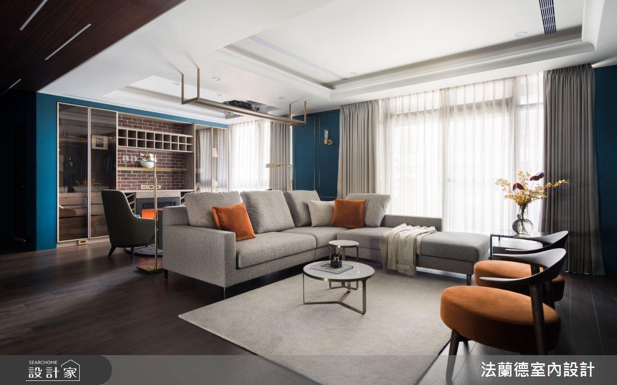 45坪新成屋(5年以下)_現代風客廳案例圖片_法蘭德室內設計_法蘭德_46之3