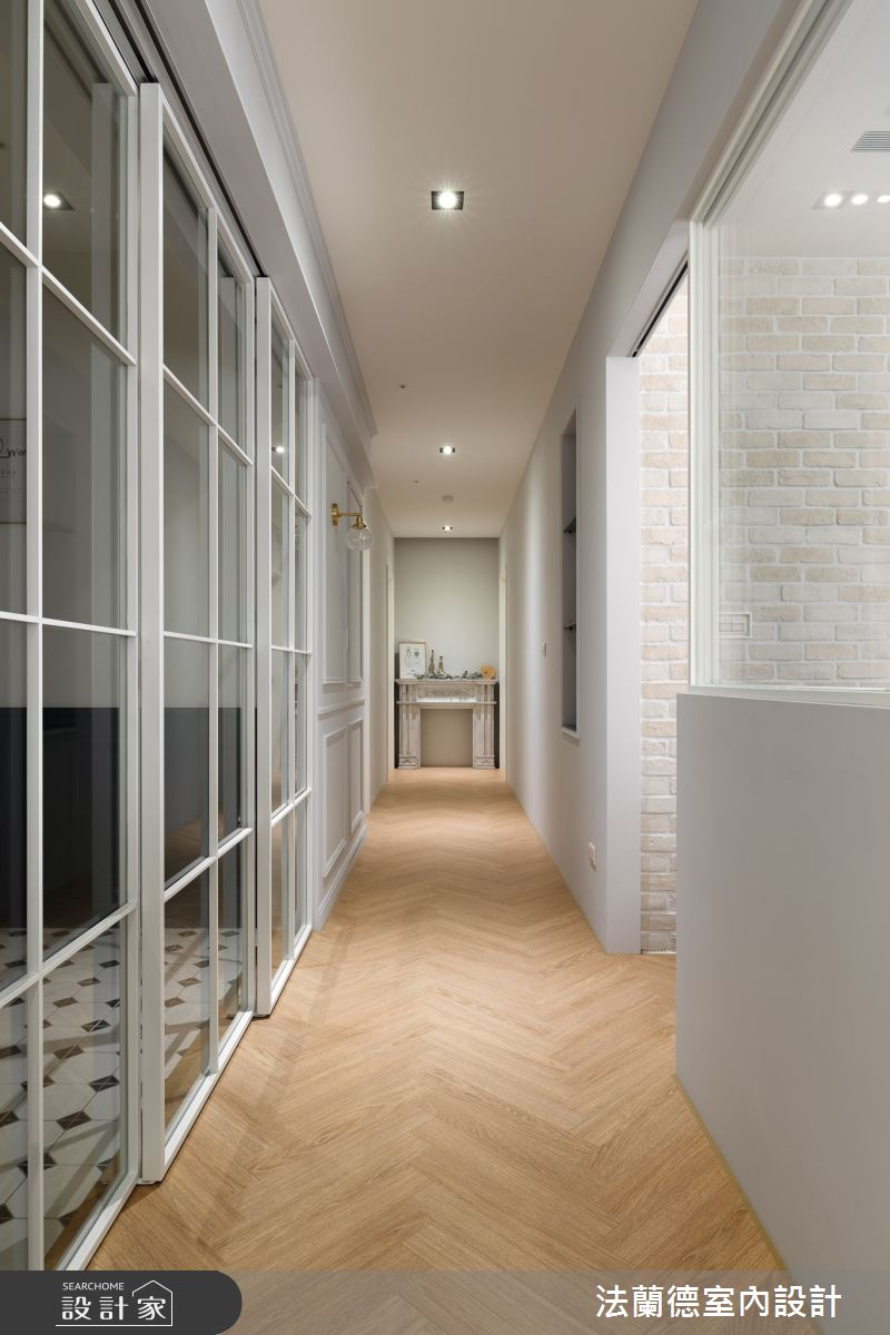 45坪新成屋(5年以下)_美式風走廊案例圖片_法蘭德室內設計_法蘭德_47之9