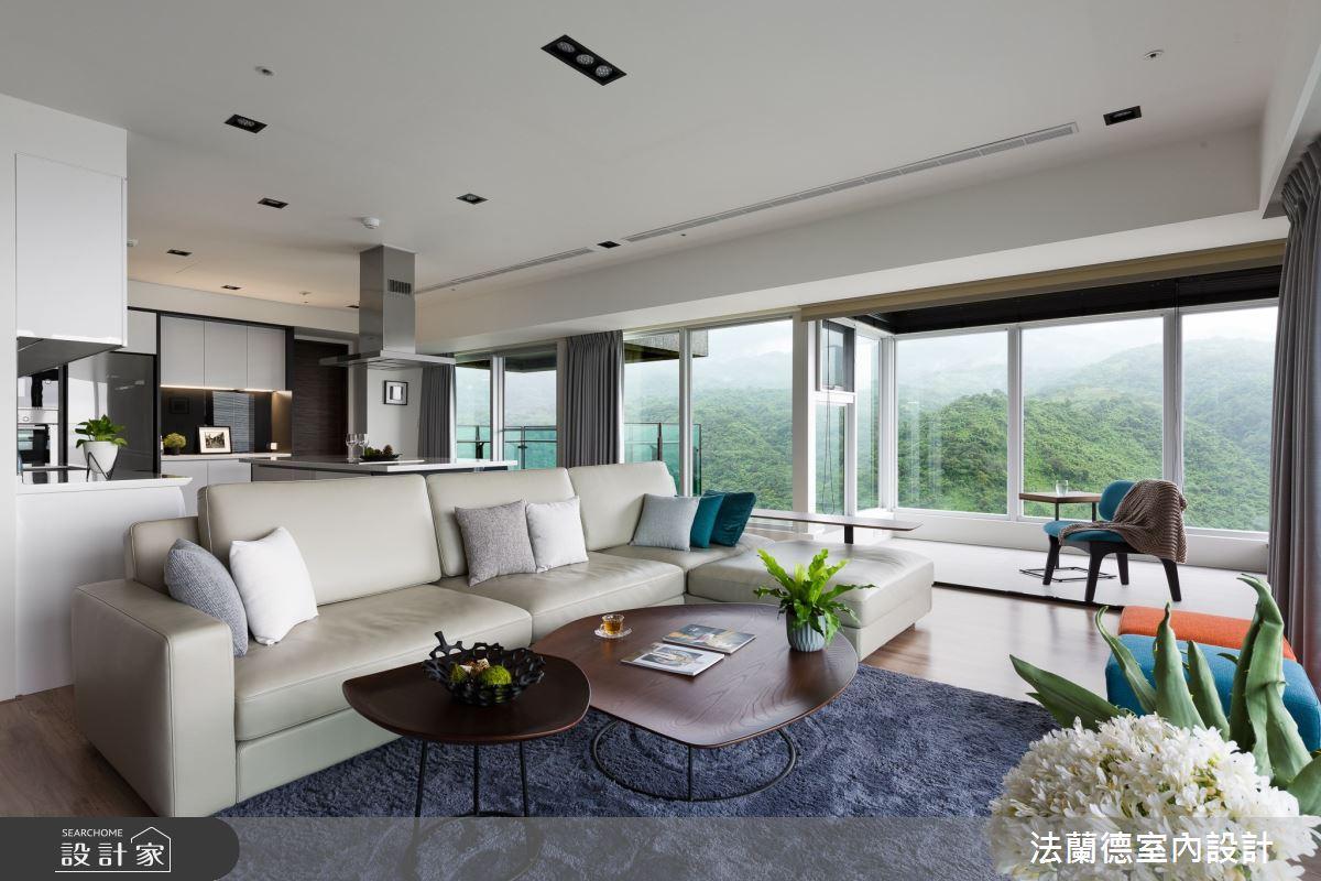 74坪新成屋(5年以下)_現代風客廳案例圖片_法蘭德室內設計_法蘭德_48之2