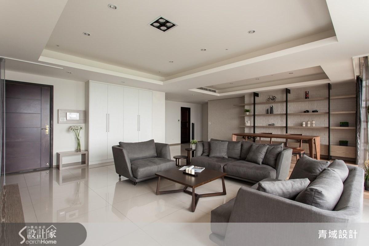 55坪新成屋(5年以下)_北歐風客廳案例圖片_青域設計有限公司_青域_01之1