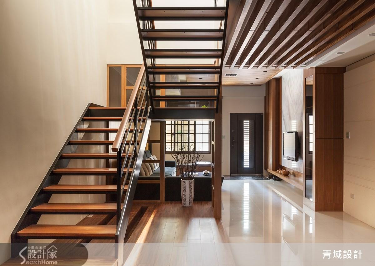 105坪老屋(16~30年)_現代風樓梯案例圖片_青域設計有限公司_青域_02之2