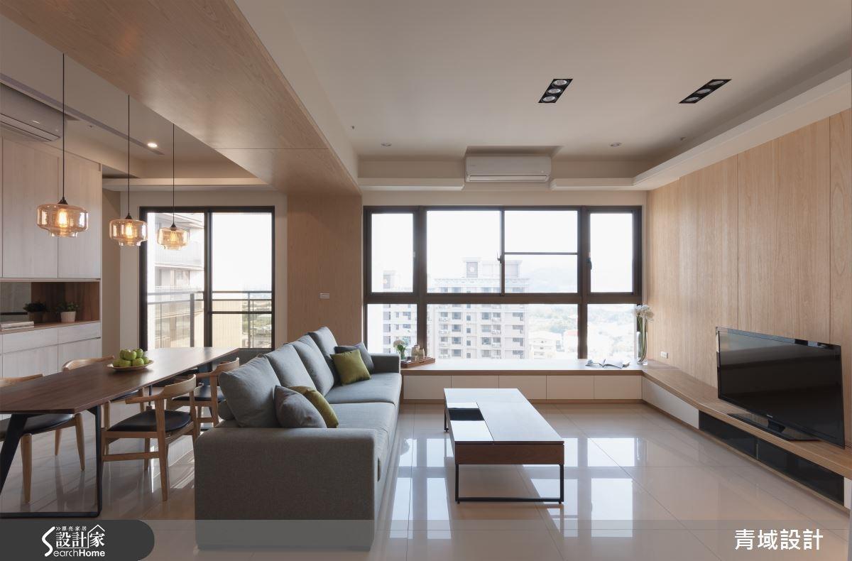 36坪新成屋(5年以下)_現代風客廳案例圖片_青域設計有限公司_青域_05之1