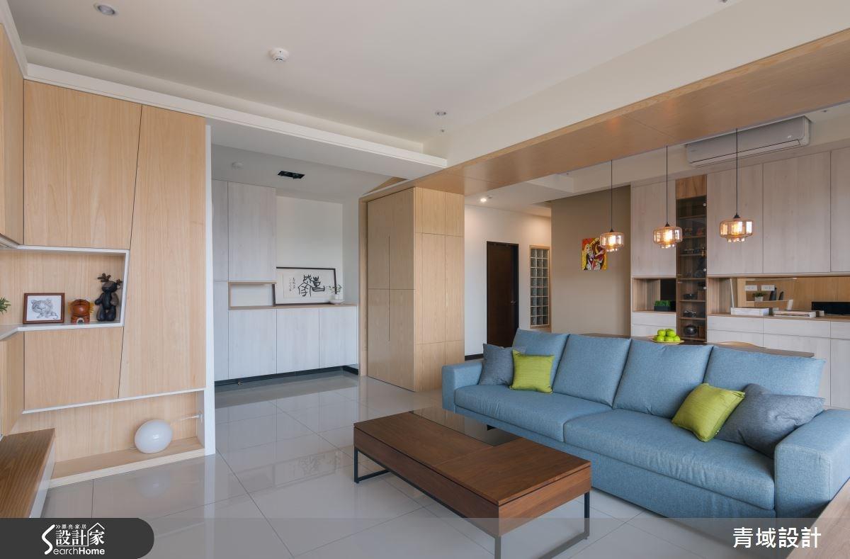 36坪新成屋(5年以下)_現代風客廳案例圖片_青域設計有限公司_青域_05之2