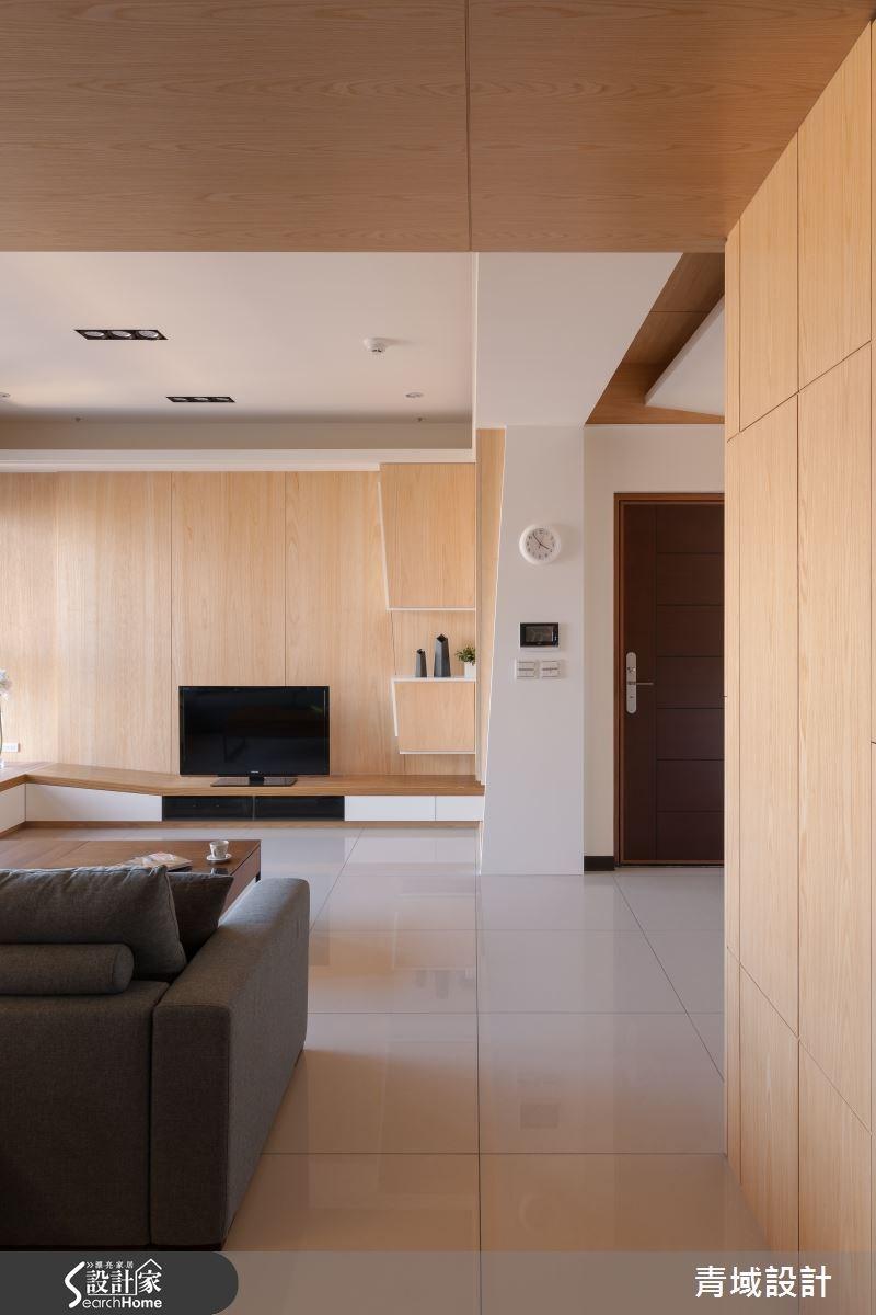 36坪新成屋(5年以下)_現代風客廳案例圖片_青域設計有限公司_青域_05之4