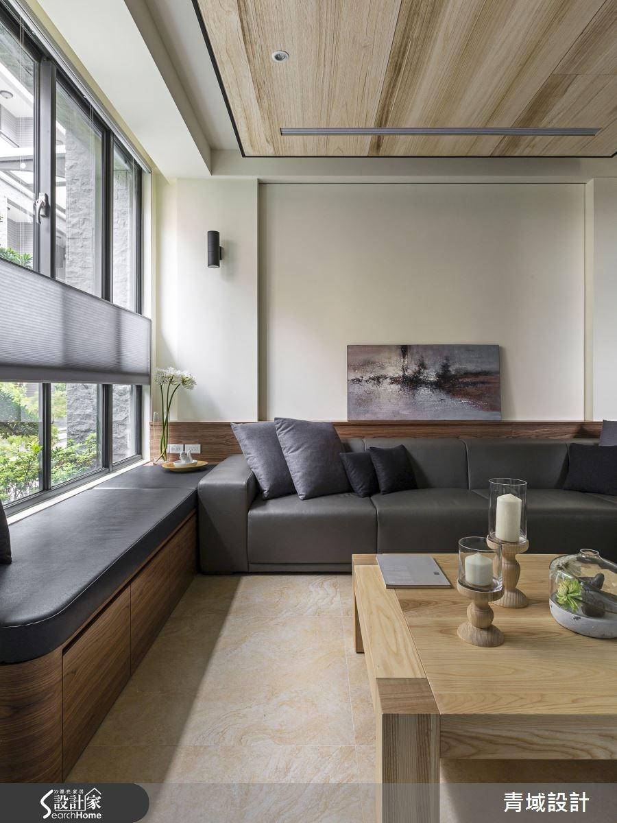 85坪新成屋(5年以下)_人文禪風客廳案例圖片_青域設計有限公司_青域_07之2