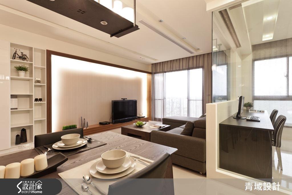 35坪新成屋(5年以下)_現代風客廳餐廳案例圖片_青域設計有限公司_青域_08之3