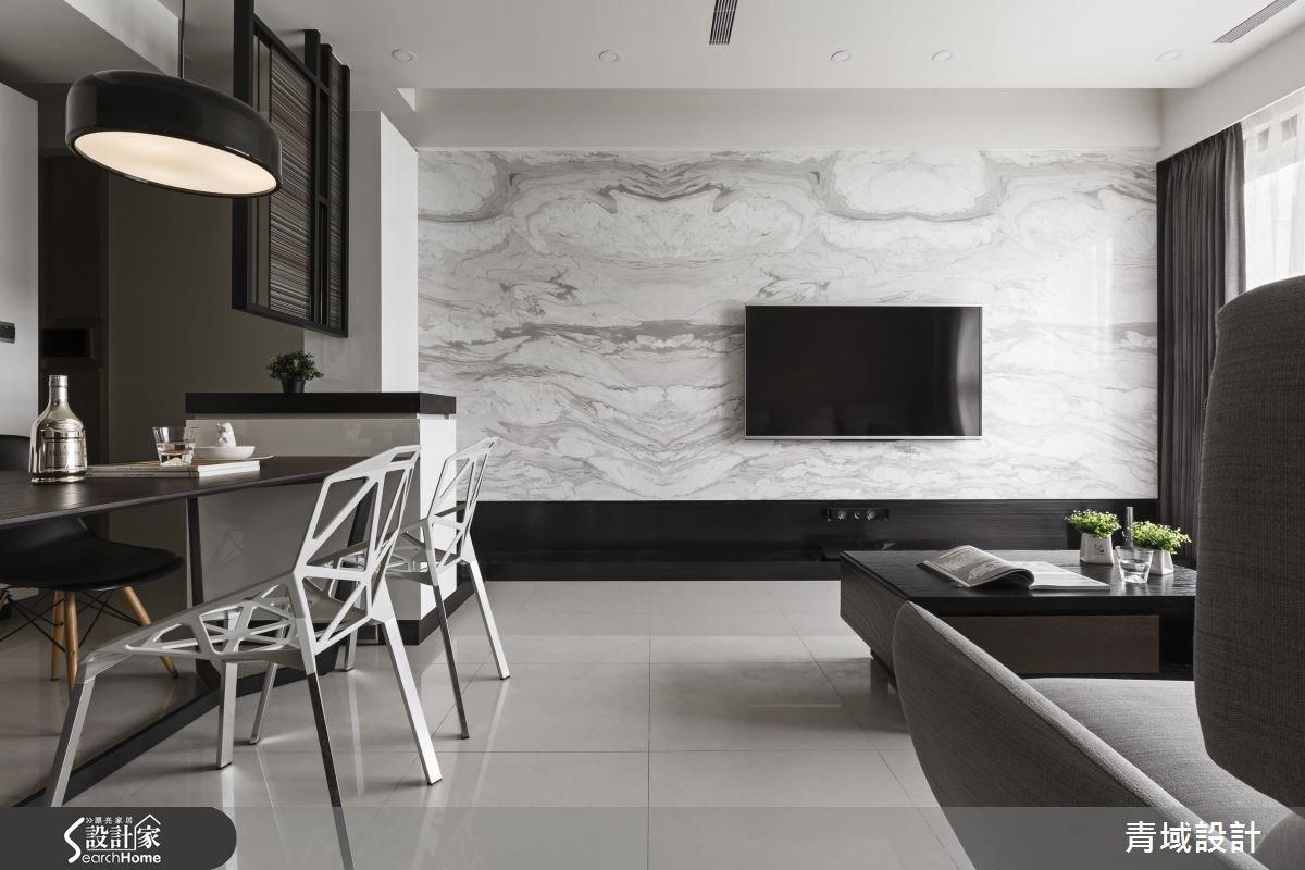 32坪新成屋(5年以下)_現代風客廳餐廳案例圖片_青域設計有限公司_青域_14之5