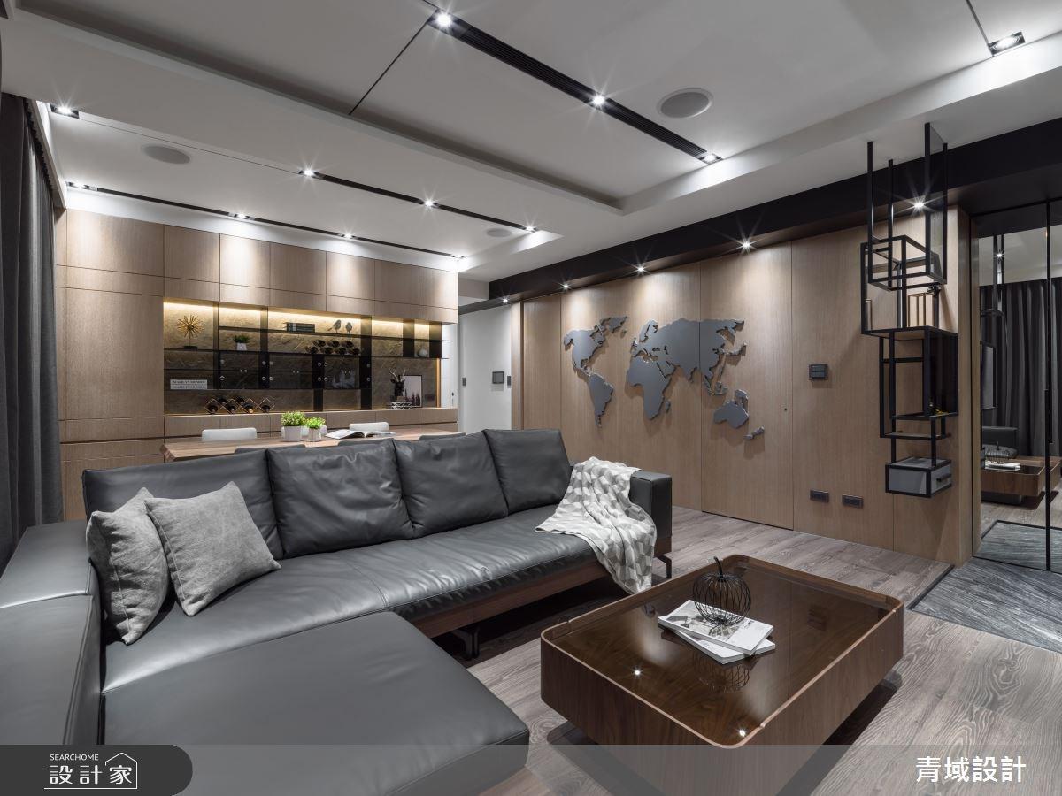41坪新成屋(5年以下)_現代風客廳案例圖片_青域設計有限公司_青域_21之2