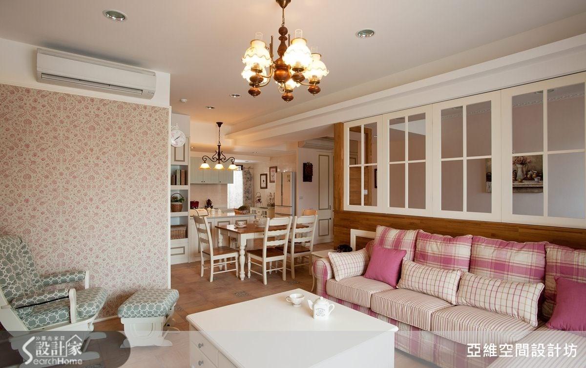 41坪新成屋(5年以下)_鄉村風客廳餐廳案例圖片_亞維空間設計_亞維_02之4