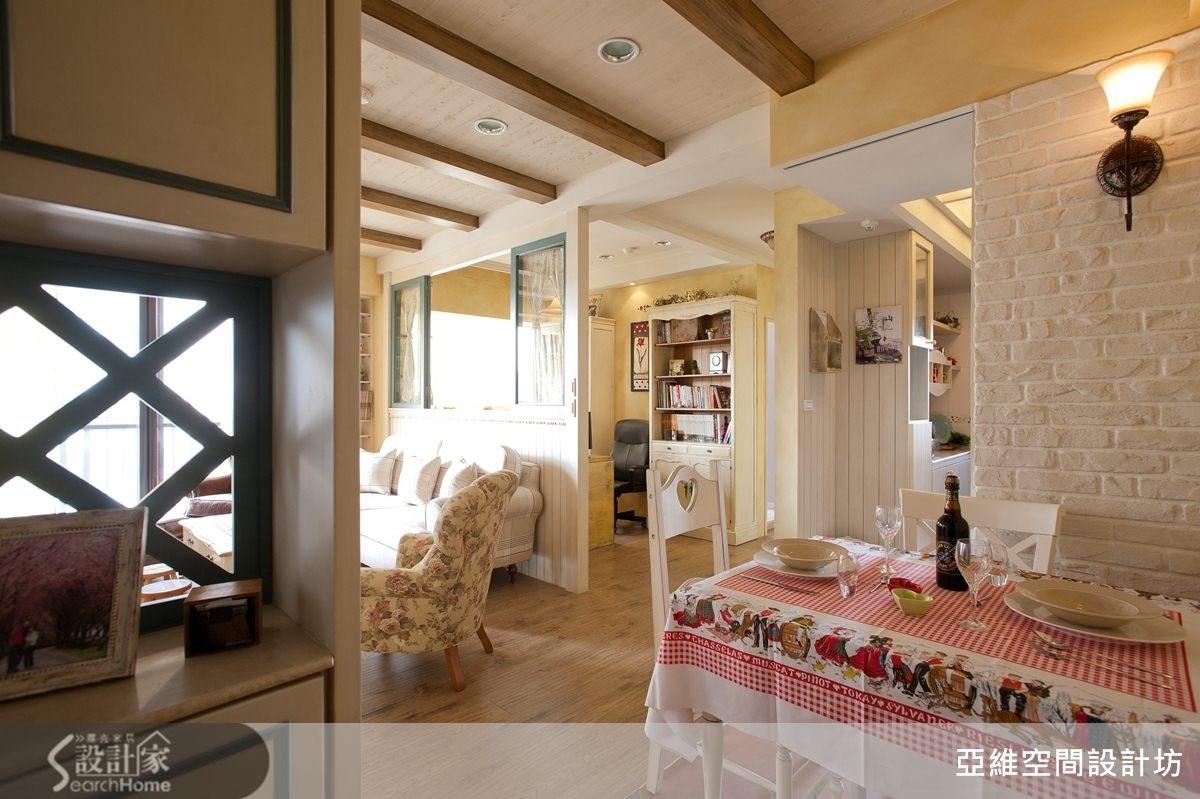 25坪新成屋(5年以下)_鄉村風餐廳案例圖片_亞維空間設計_亞維_04之2