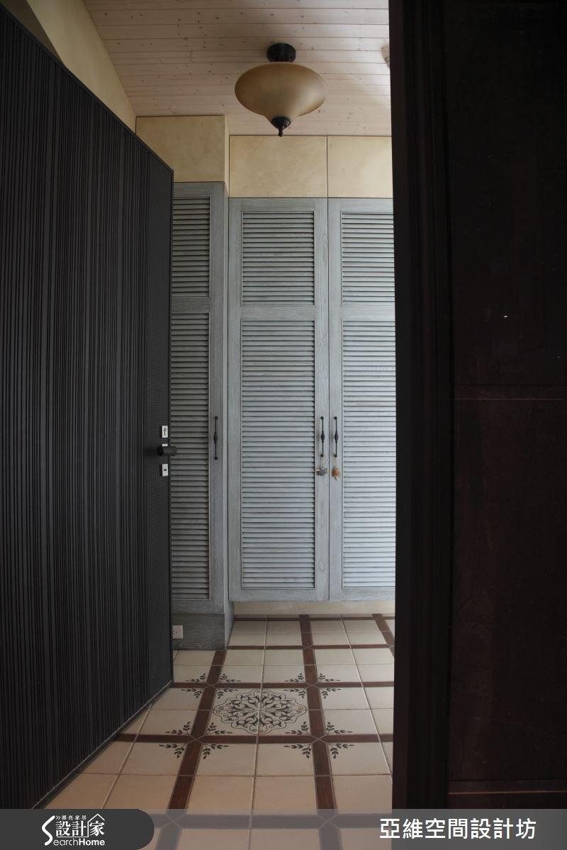 35坪新成屋(5年以下)_鄉村風玄關案例圖片_亞維空間設計_亞維_09之1