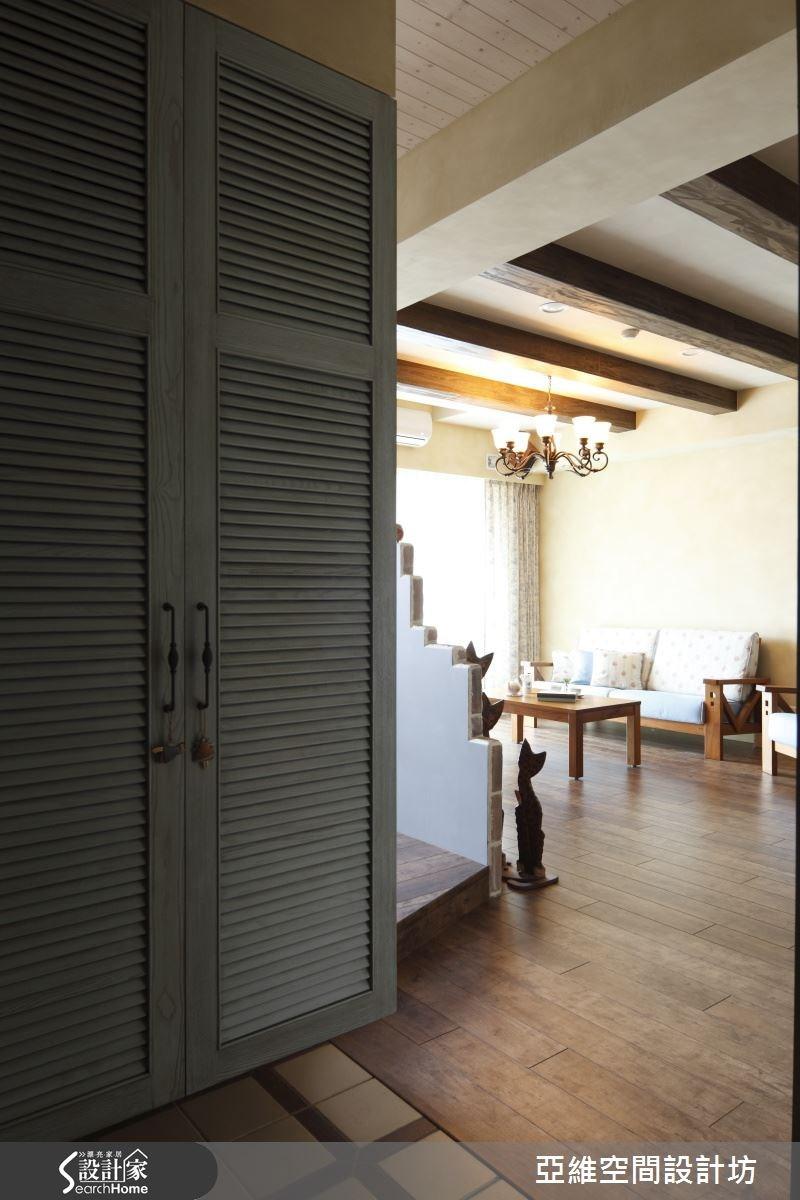 35坪新成屋(5年以下)_鄉村風玄關案例圖片_亞維空間設計_亞維_09之2