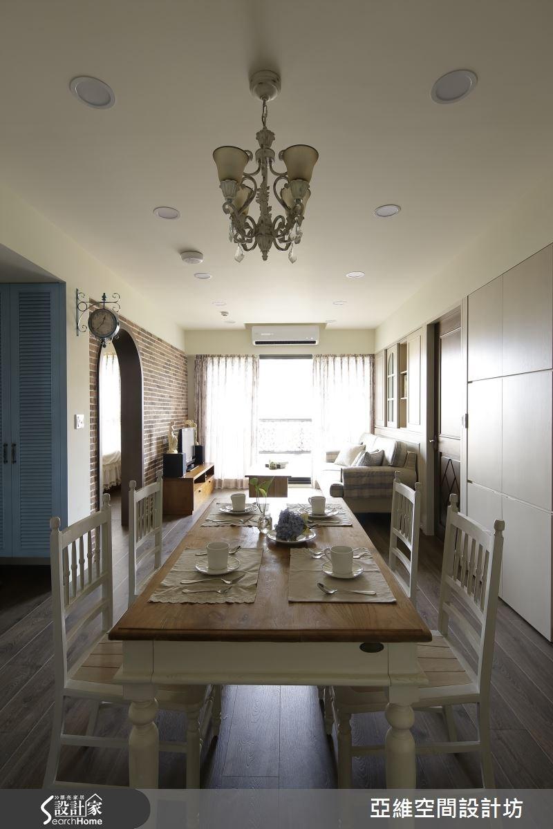 35坪新成屋(5年以下)_鄉村風餐廳案例圖片_亞維空間設計_亞維_10之4