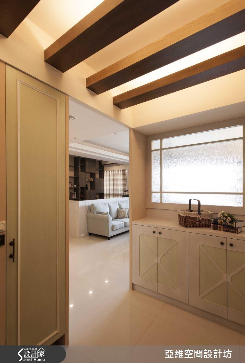 35坪新成屋(5年以下)_鄉村風玄關案例圖片_亞維空間設計_亞維_12之3
