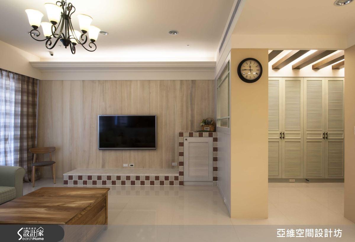 35坪新成屋(5年以下)_鄉村風客廳案例圖片_亞維空間設計_亞維_12之6