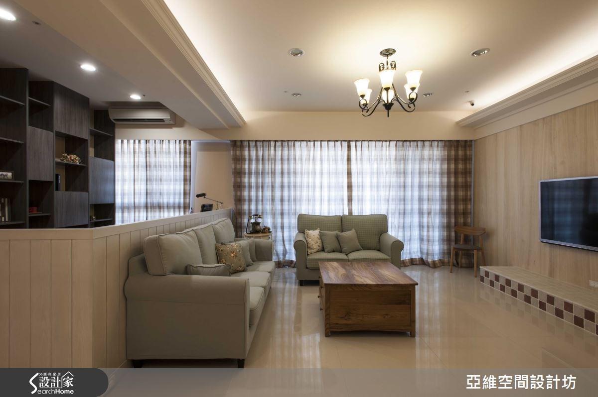 35坪新成屋(5年以下)_鄉村風客廳案例圖片_亞維空間設計_亞維_12之8