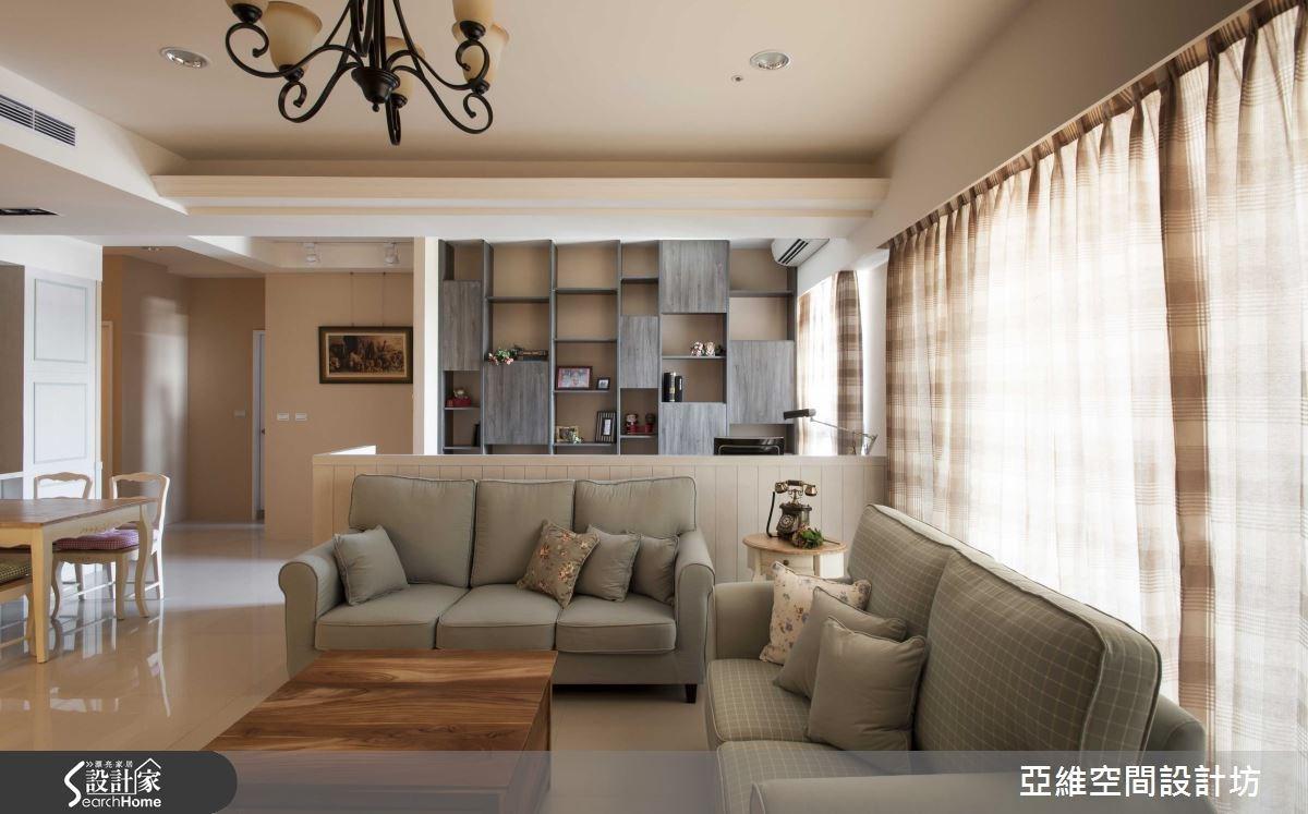 35坪新成屋(5年以下)_鄉村風客廳案例圖片_亞維空間設計_亞維_12之10