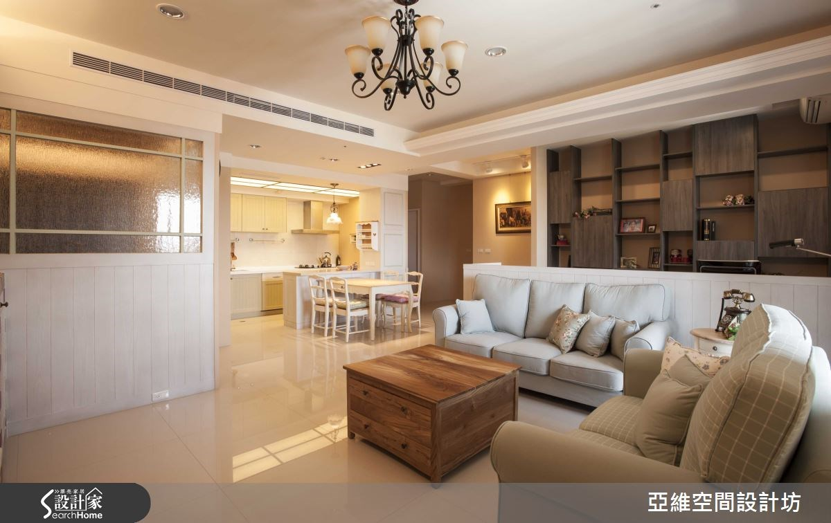 35坪新成屋(5年以下)_鄉村風客廳案例圖片_亞維空間設計_亞維_12之13