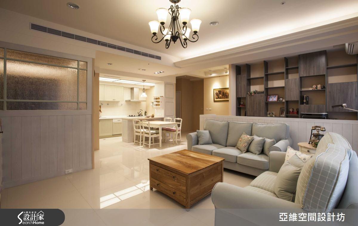 35坪新成屋(5年以下)_鄉村風客廳案例圖片_亞維空間設計_亞維_12之14