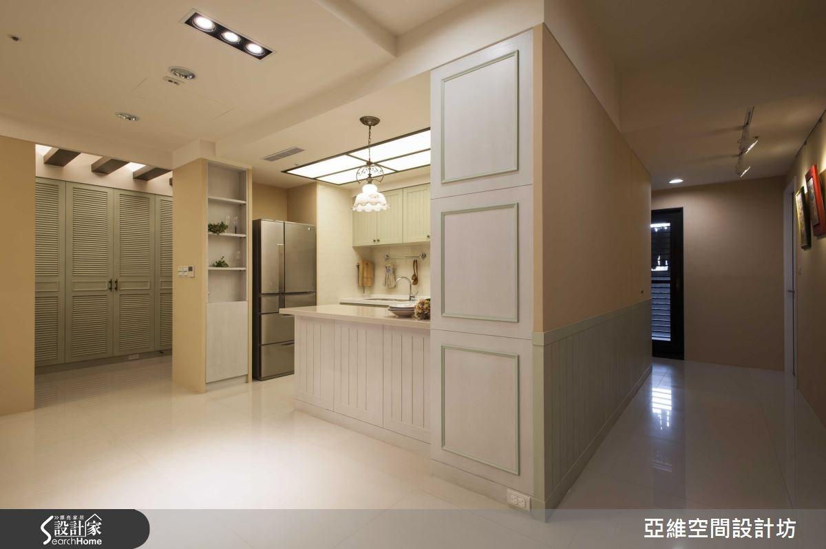 35坪新成屋(5年以下)_鄉村風廚房吧檯走廊案例圖片_亞維空間設計_亞維_12之15
