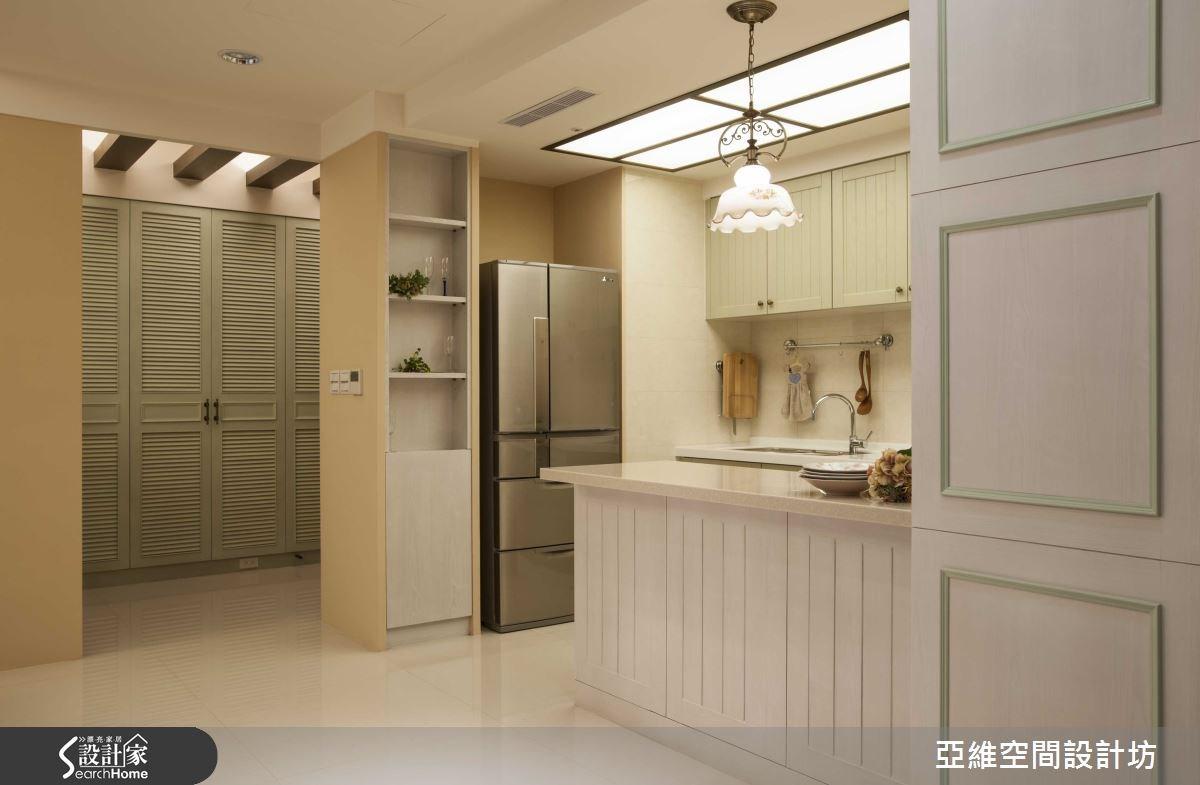 35坪新成屋(5年以下)_鄉村風廚房吧檯案例圖片_亞維空間設計_亞維_12之16