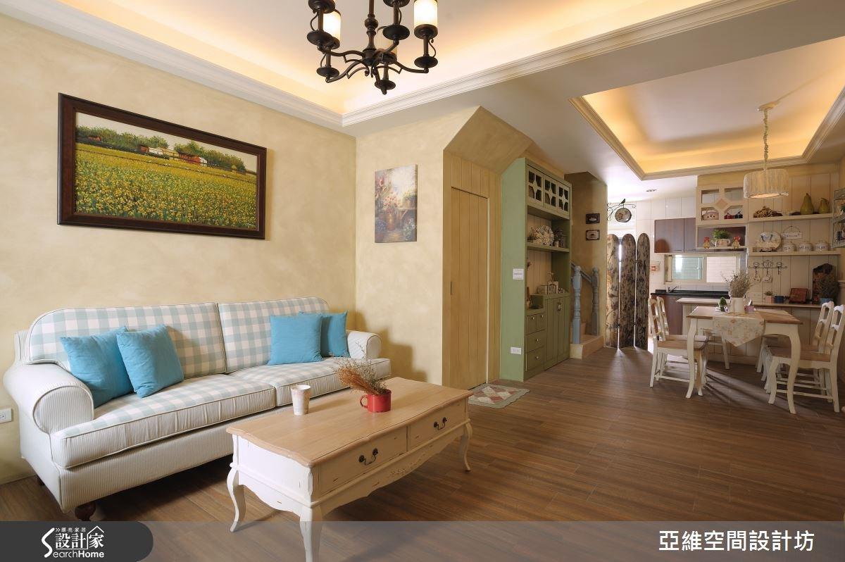 45坪新成屋(5年以下)_鄉村風客廳案例圖片_亞維空間設計_亞維_16之2