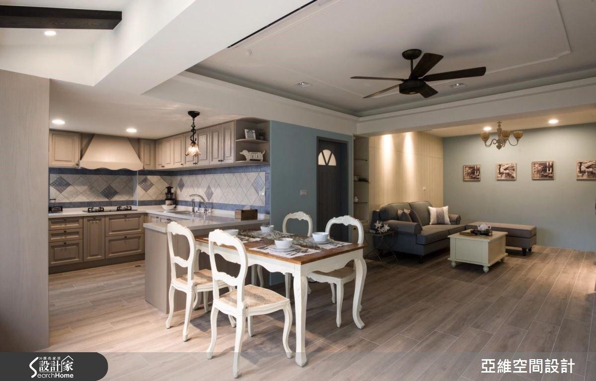 50坪老屋(16~30年)_鄉村風客廳餐廳廚房案例圖片_亞維空間設計_亞維_22之8