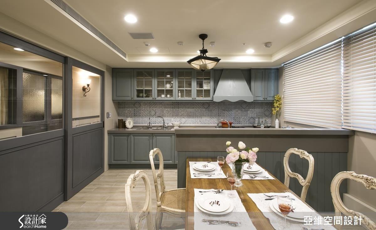 80坪新成屋(5年以下)_鄉村風餐廳廚房案例圖片_亞維空間設計_亞維_23之4