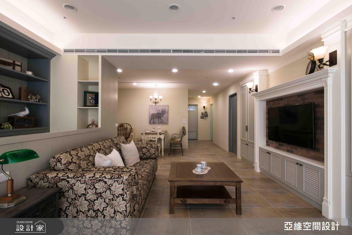 35坪預售屋_鄉村風客廳案例圖片_亞維空間設計_亞維_24之3