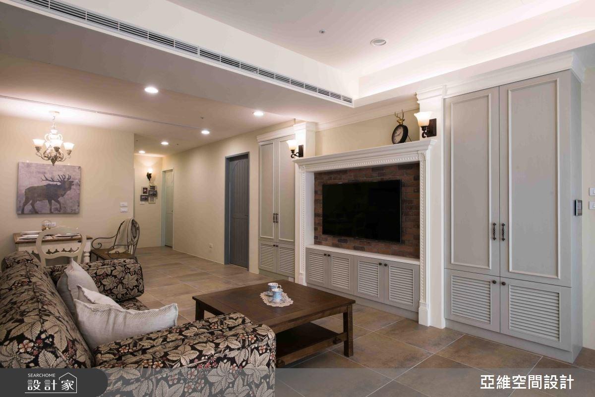 35坪預售屋_鄉村風客廳案例圖片_亞維空間設計_亞維_24之4