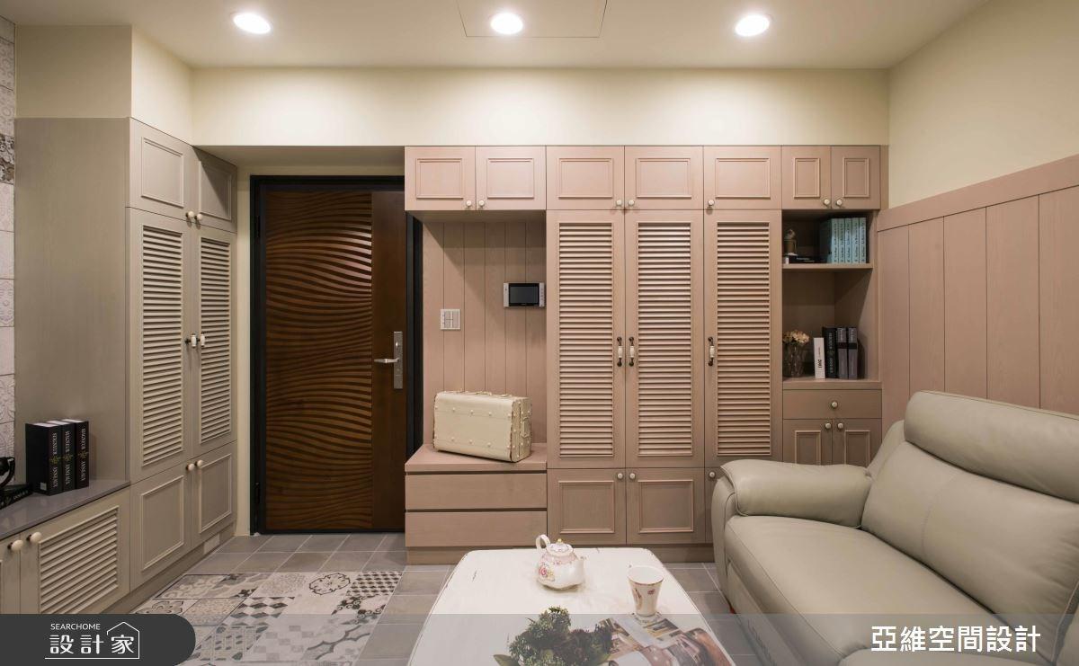 11坪新成屋(5年以下)_鄉村風玄關客廳案例圖片_亞維空間設計_亞維_27之1